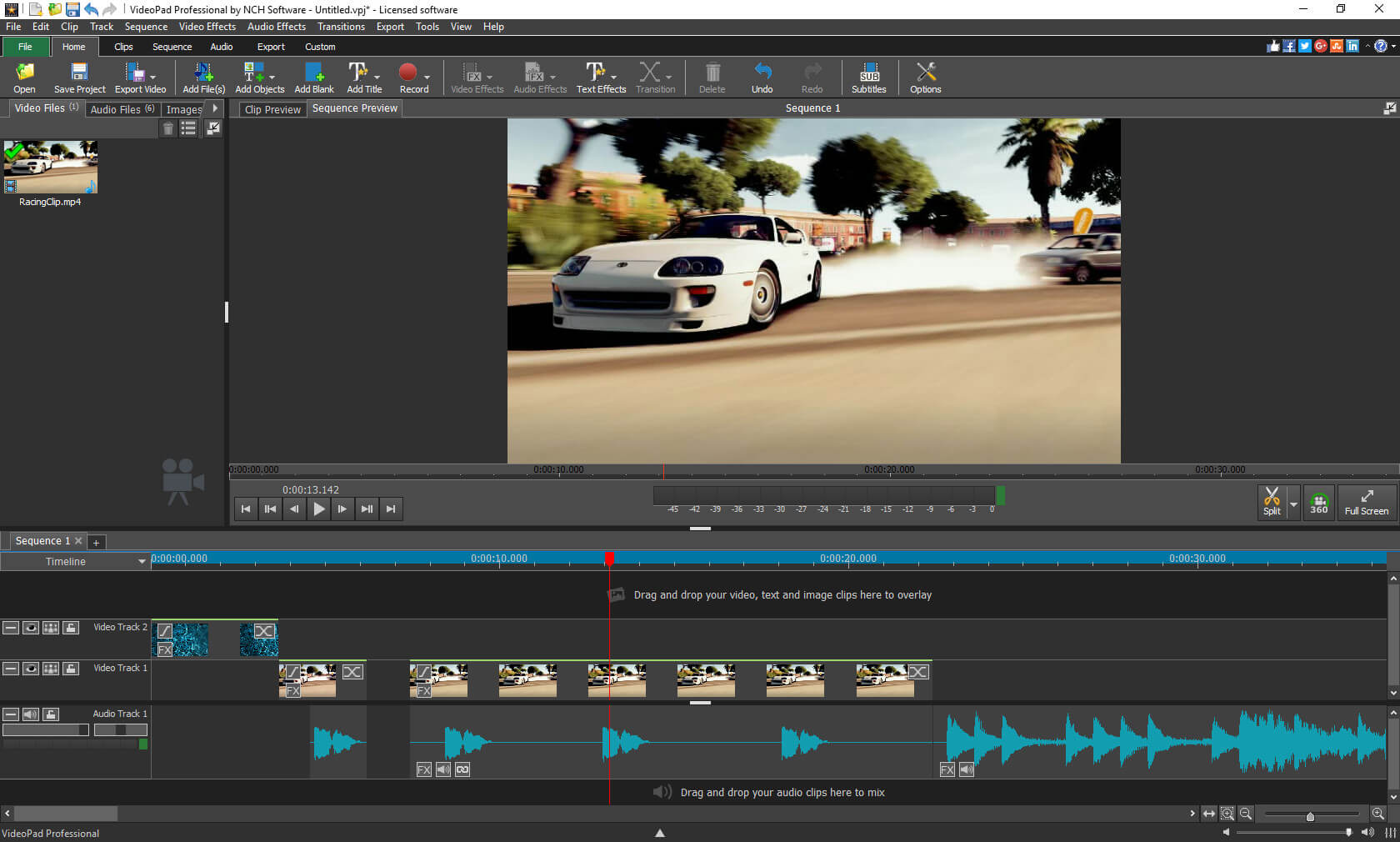 Videopad kostenloses Videoschnittprogramm