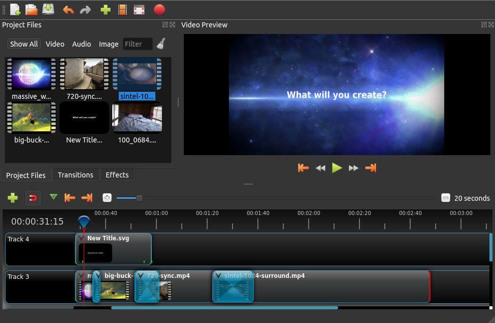 Openshot kostenloses Videoschnittprogramm