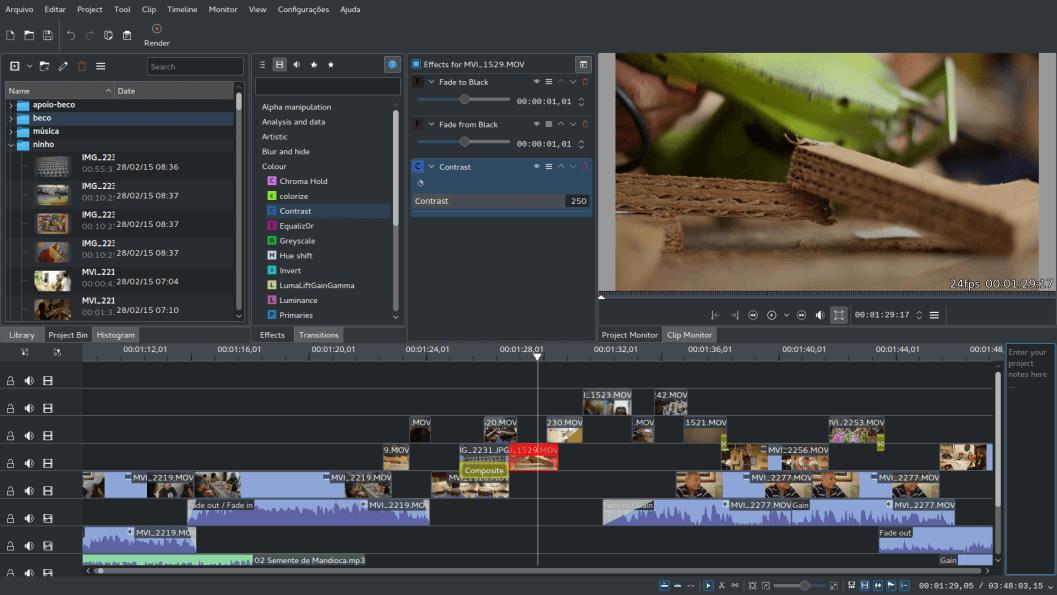 Kdenlive kostenloses Videoschnittprogramm