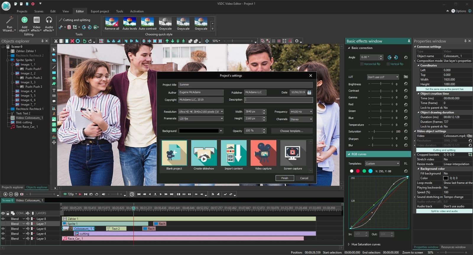 Free Video Editor kostenloses Videoschnittprogramm