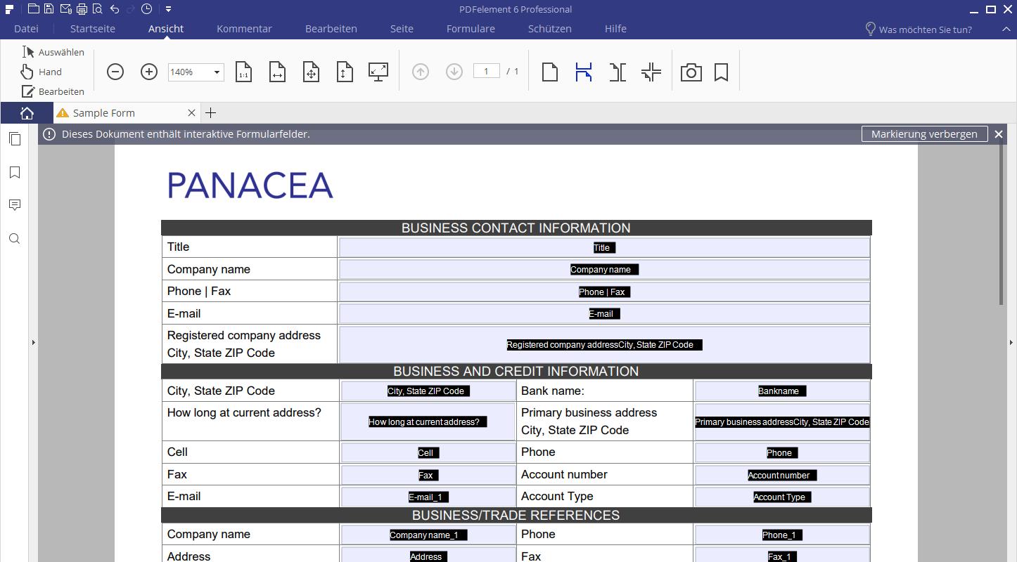 PDF-Formular bearbeiten