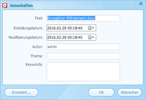 Passwort PDF
