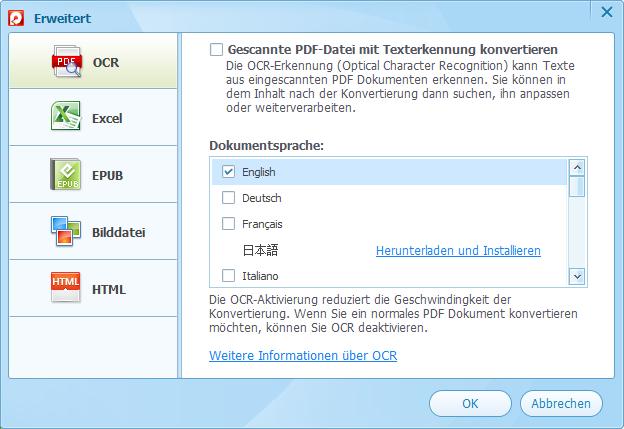 PDF OCR konvertieren