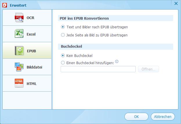 PDF zu EPUB konvertieren