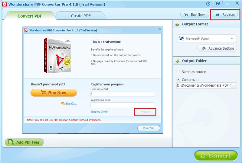 PDF Converter Pro registrieren