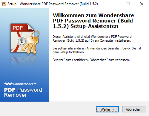 pdf password remover installieren