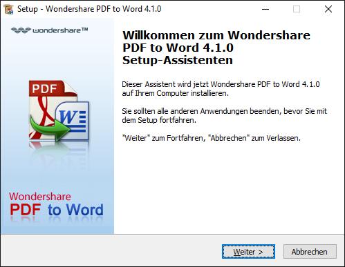 pdf zu word installation für windows