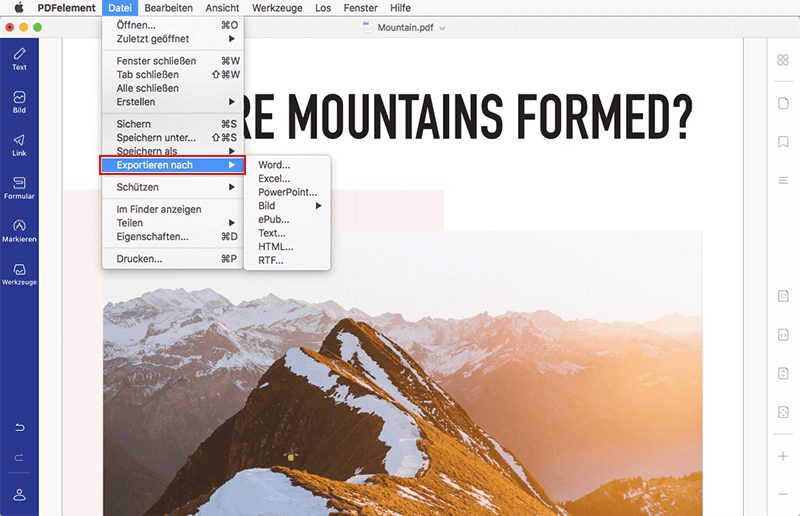 pdf in word mac