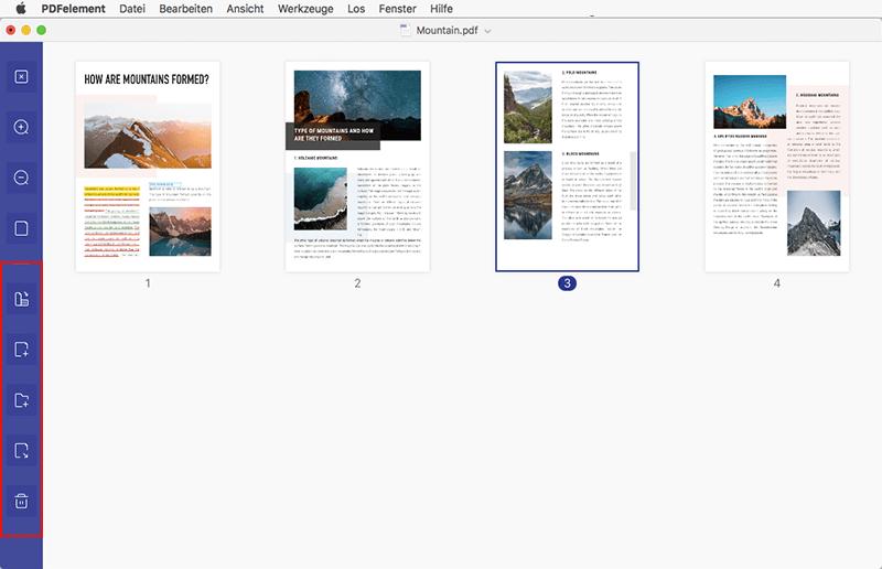 Seite in PDF hinzufügen mac