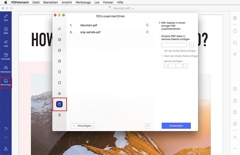Bilder auf Mac im PDF-Format kombinieren