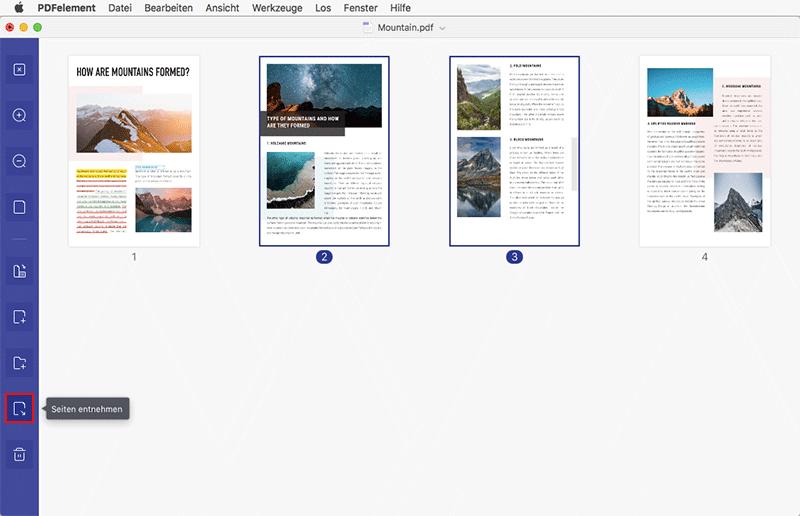 So extrahieren Sie Seiten aus PDF auf Mac