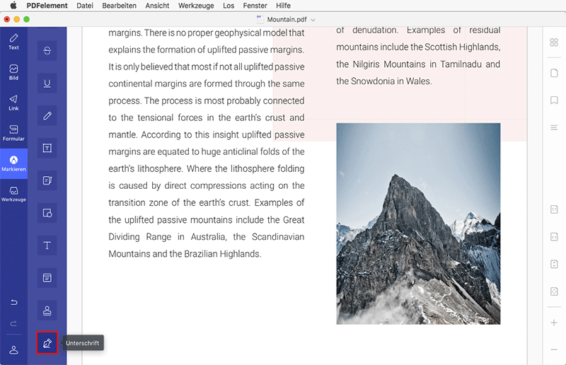 PDFelement 6 Professional für Mac Benutzerhandbuch