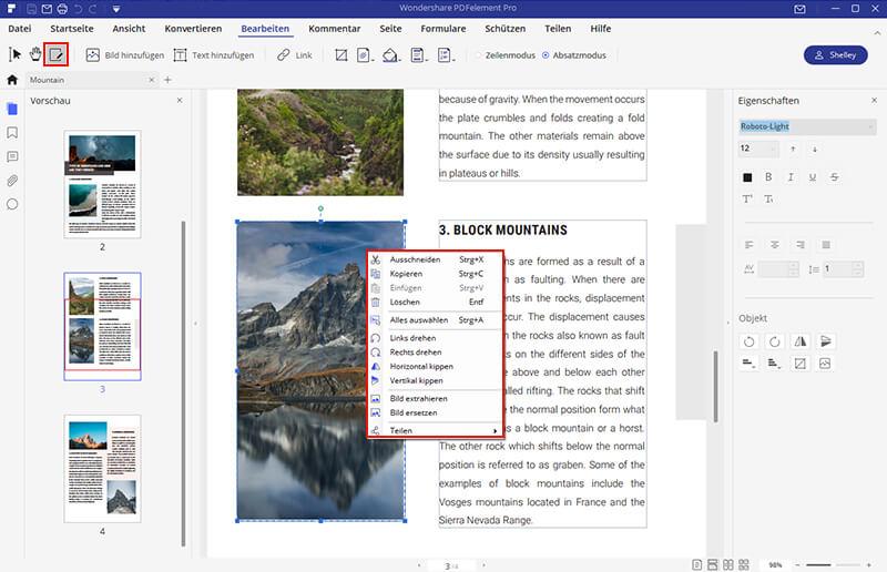 konvertierete PDF bearbeiten
