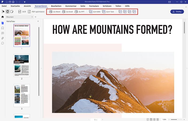 PDF in HTML konvertieren