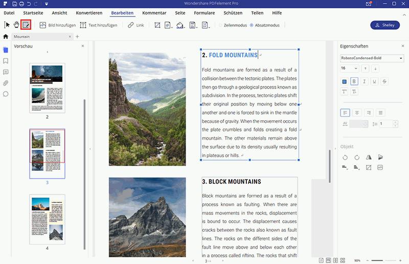 Gescannte PDF bearbeiten