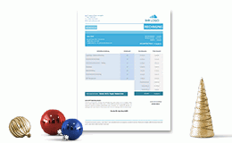 Invoice Template Business Blue