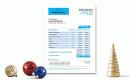 Invoice Template Simple Blue
