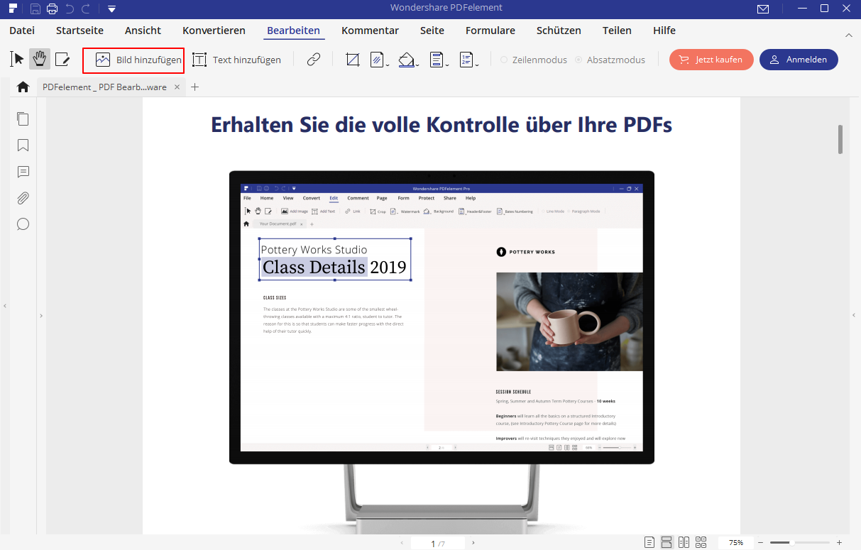 bild in PDF bearbeiten