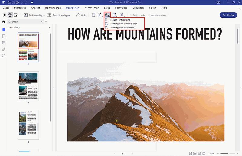 Hintergrund aus dem PDF-Dokument entfernen