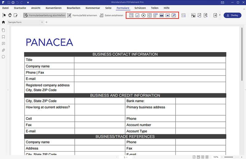 Ausfüllbares PDF-Formular erstellen