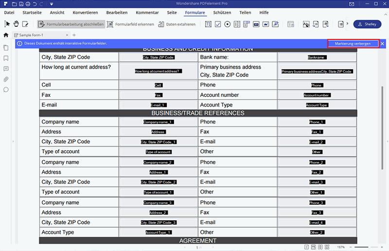PDF Formulare bearbeiten