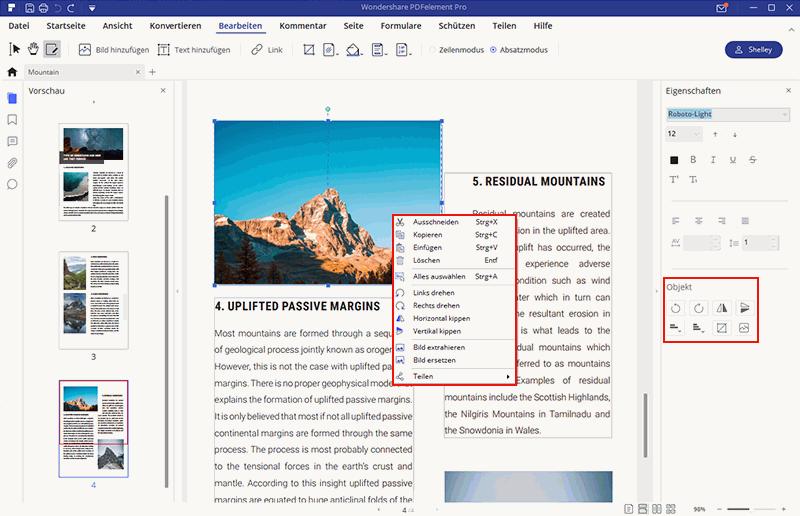 wie man ein PDF-Bild bearbeitet