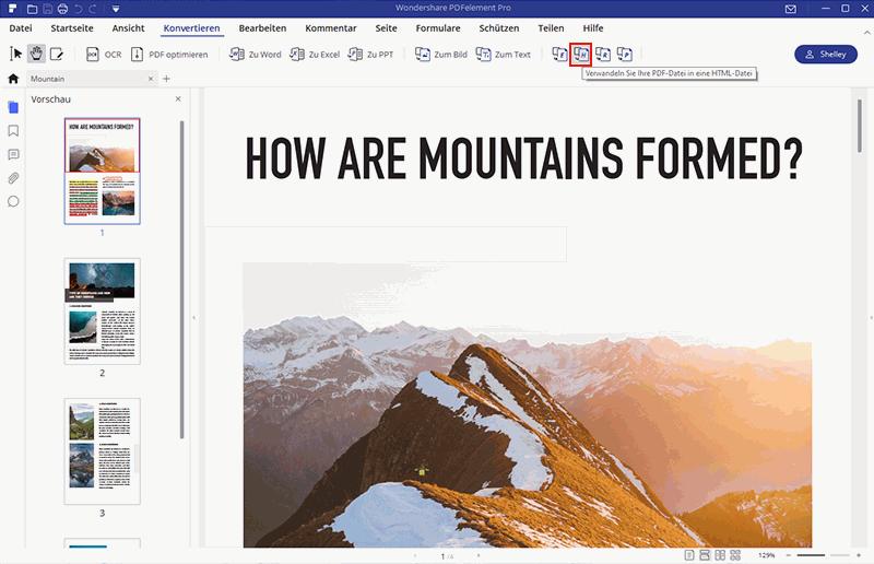 Zeige PDF in HTML