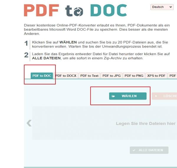 pdf dateien in word umwandeln kostenlos deutsch