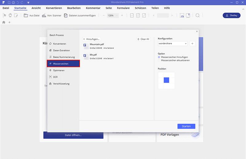Wasserzeichen in PDF einfügen