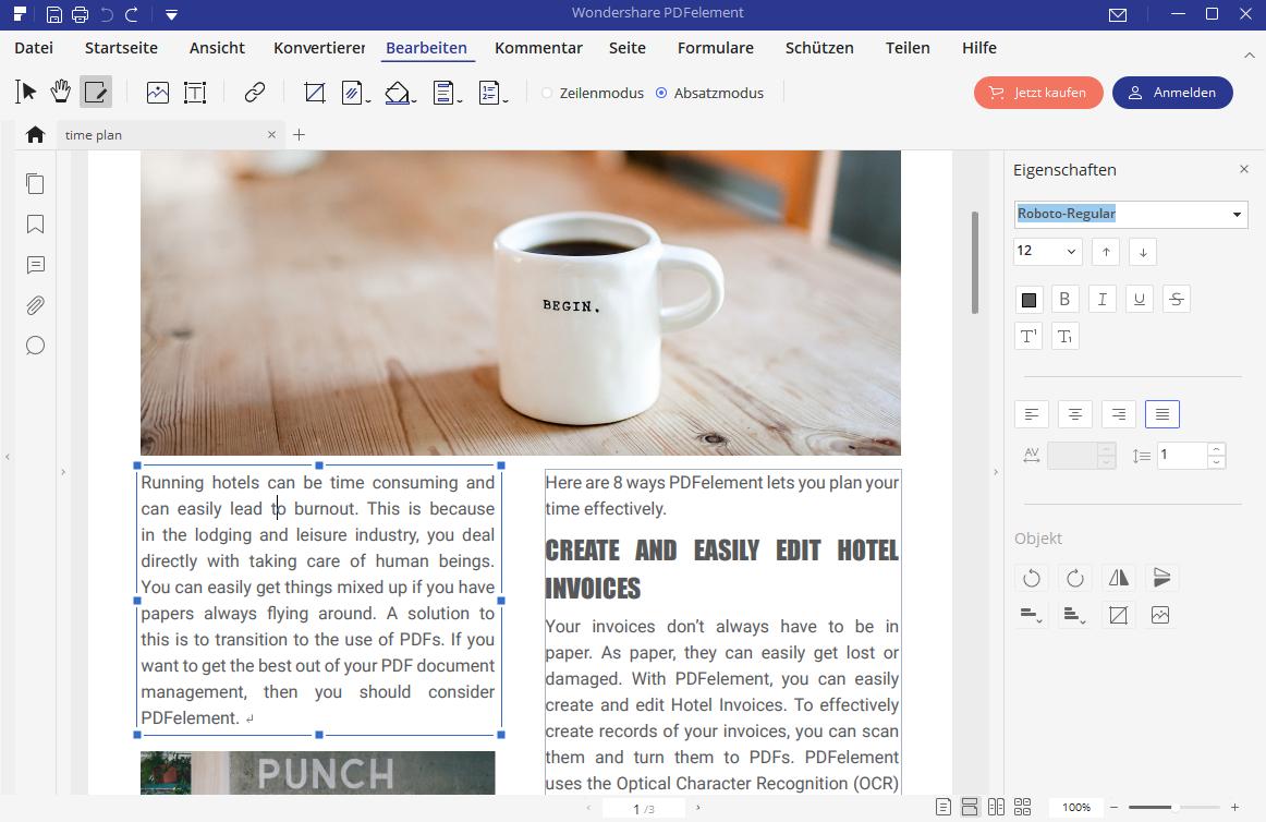 text in pdf einfügen