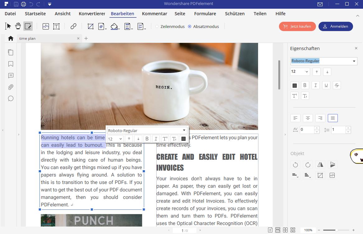 Kopieren von PDF in Word
