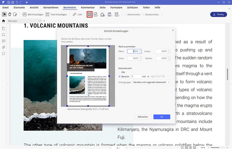 Wie man PDF zuschneiden kann