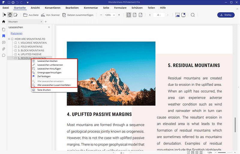 lesezeichen in pdf bearbeiten