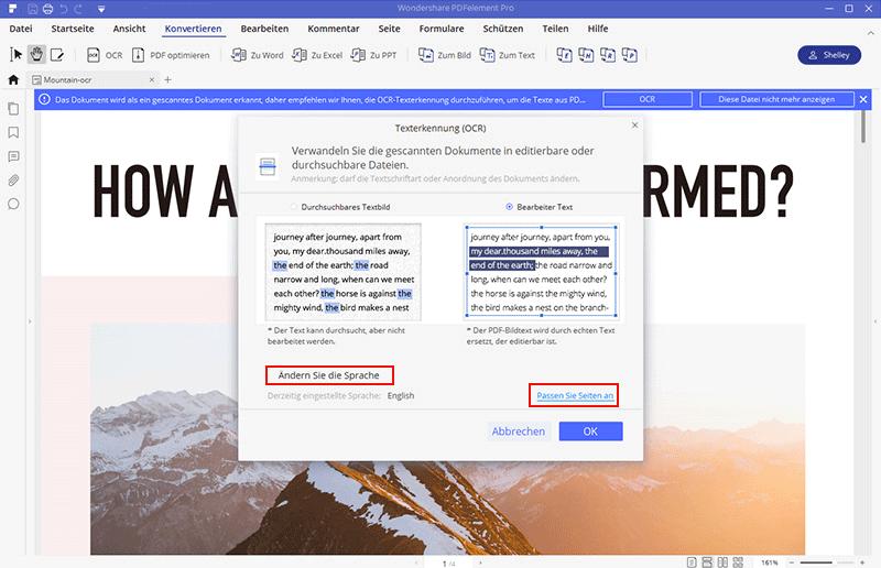 Scan in Excel umwandeln