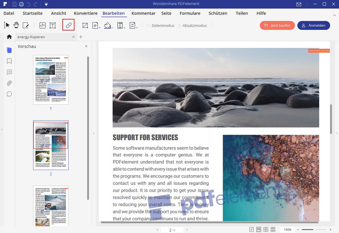 Links und Anlagen in PDF-Dateien