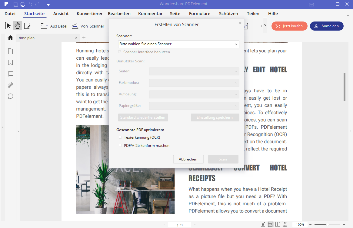PDF vom Scanner erstellen