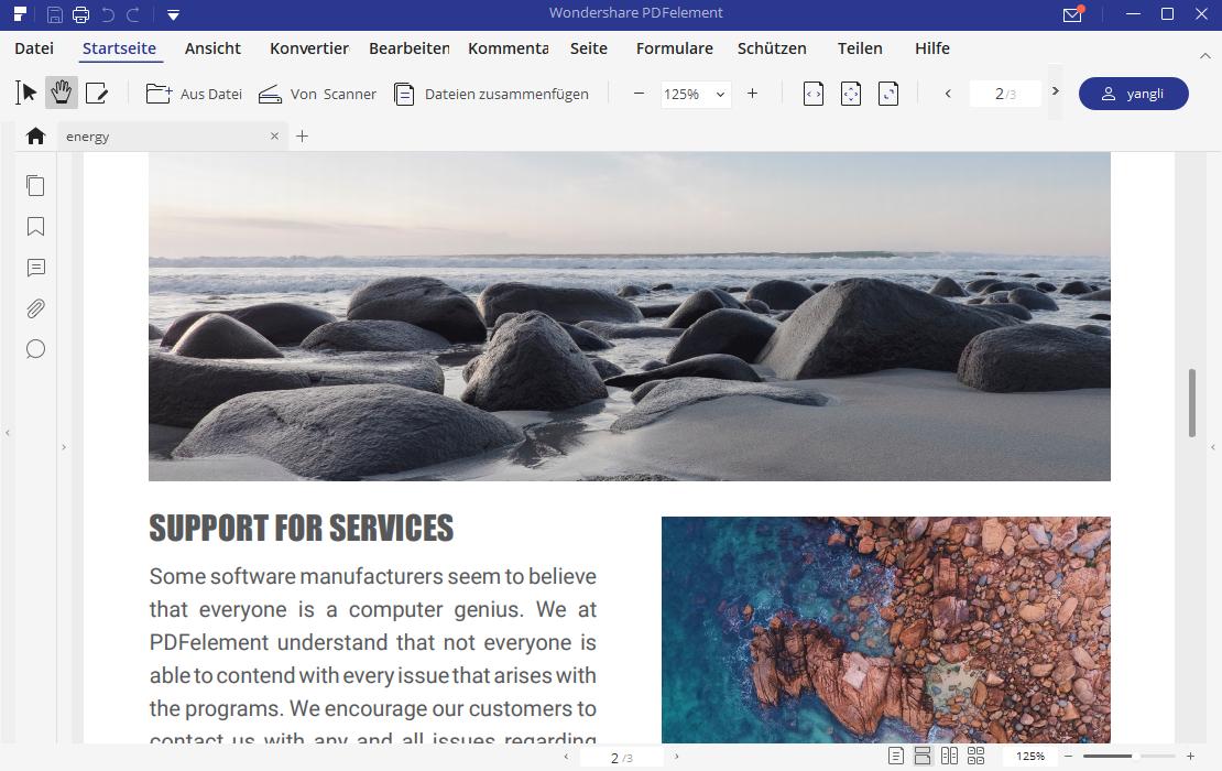 Text zu PDF-Dateien konvertieren