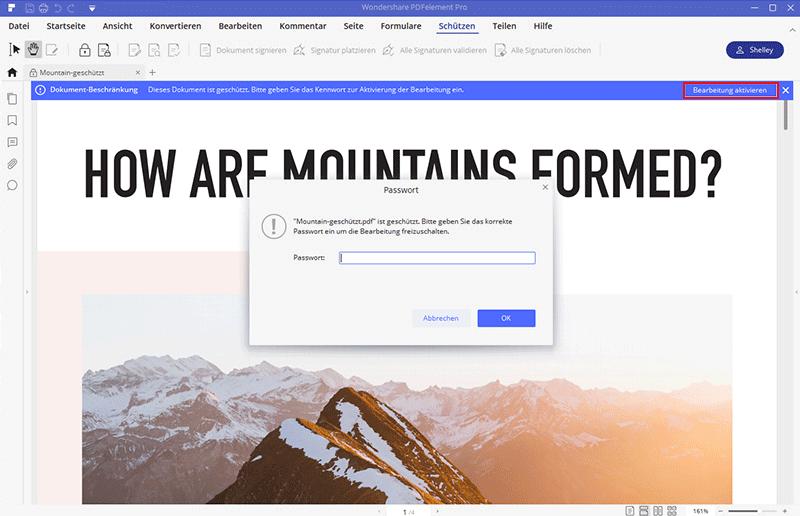 wie man aus der pdf-Datei kopiert