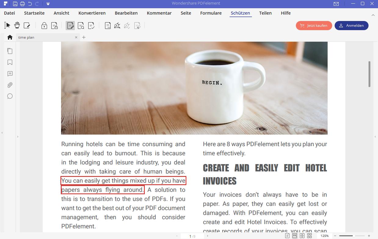 Redact PDF to Hide Sensitive Content