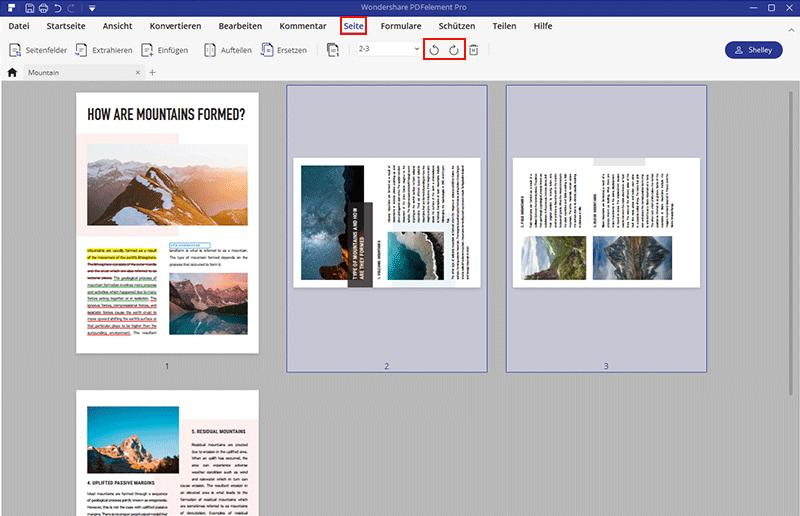 pdf seiten unter windows trennen