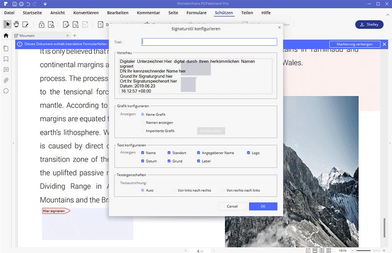 PDFs digital signieren