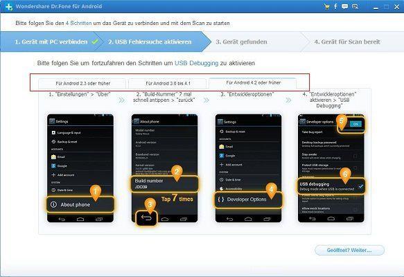 Kontakte vom kaputten android handy wiederherstellen