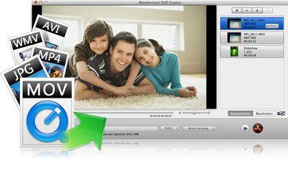 DVD Creator für Mac key feature