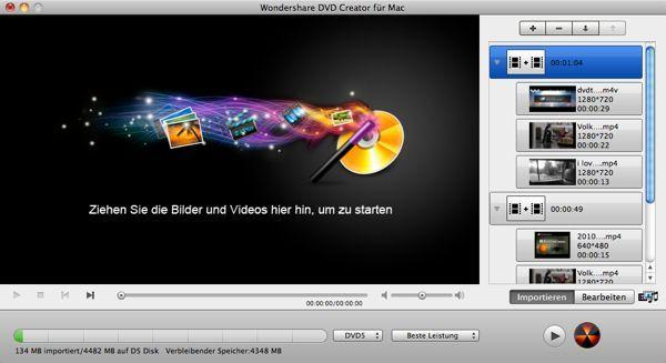 MP4 zu DVD-Freistellen