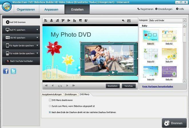 Picasa als DVD Diashow brennen