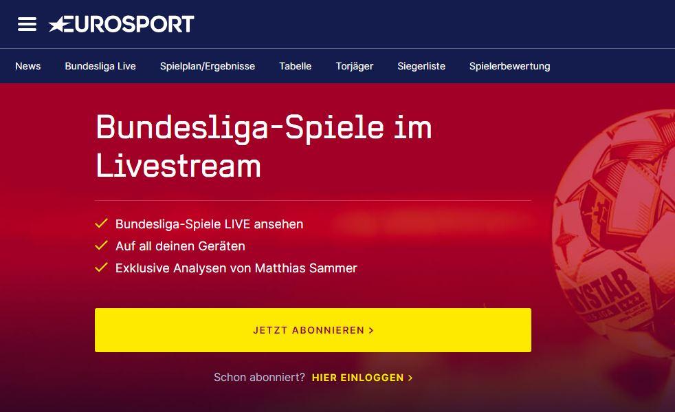 eurosport fußball stream
