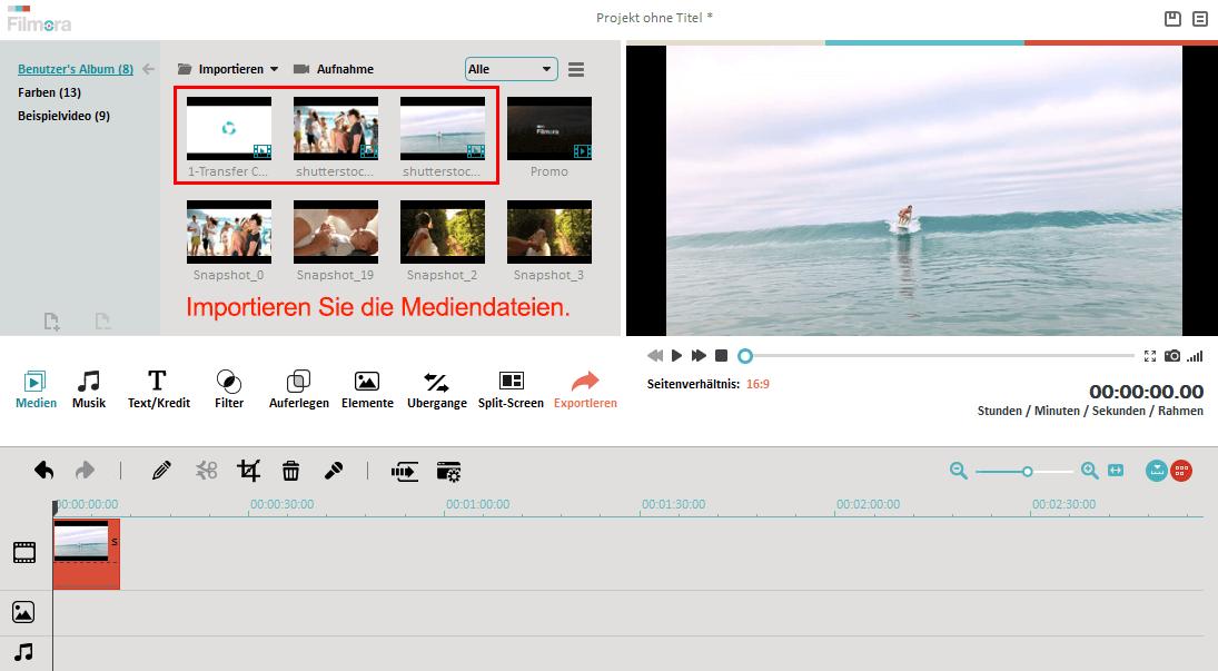 import media files