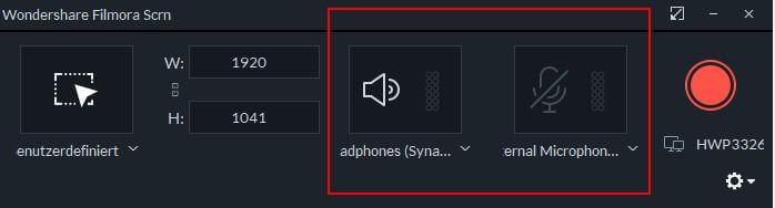 screen recorder window audio