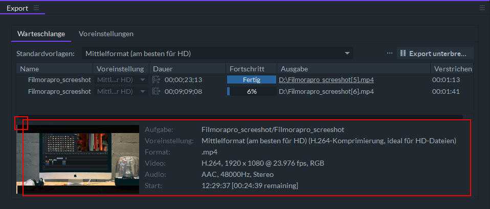 how to export video on filmora pro