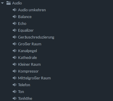 FilmoraPro Audio Effect